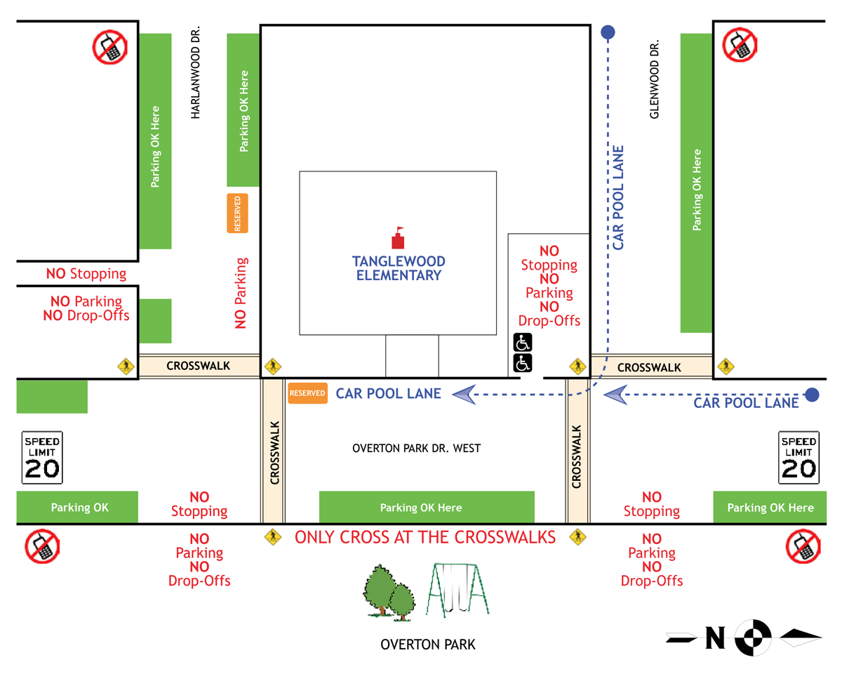 Tanglewood Elementary School safety map